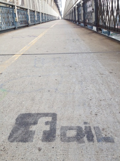 As seen on the Manhattan Bridge Bike Path © Roberto Ledesma